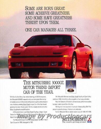 1991 Mitsubishi 3000GT - Award - Classic Vintage Advertisement Ad H07