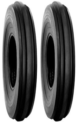 Two 4.00-19 F2 3 Rib Tractor Tires Tubes Fits Ferguson To20 To30  8ns Etc