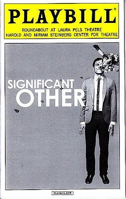 SIGNIFICANT OTHER PLAYBILL NEW YORK CITY NY BROADWAY JULY 2015