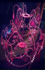Girls princess chandelier
