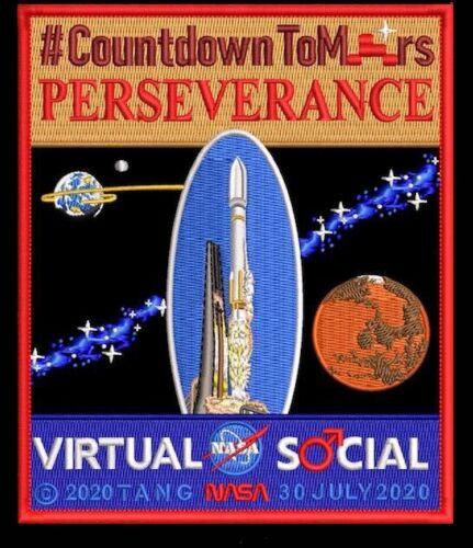 Authentic MARS 2020 TIM GAGNON -Virtual NASA Social Commemorative- SPACE PATCH
