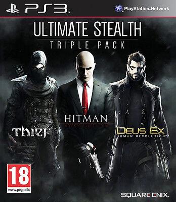 Ultimate Stealth - Triple Pack ~ PS3 (Hitman/Thief/Deus Ex) comprar usado  Enviando para Brazil