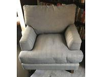 sofa . com armchair. Beautiful sofa . com armchair with some cat damage
