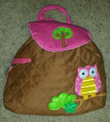 Toddler Child Backpack Stephen Joseph Brown Owl Brown Nwt