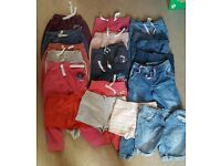 Bundle of girls trousers aged 7-8