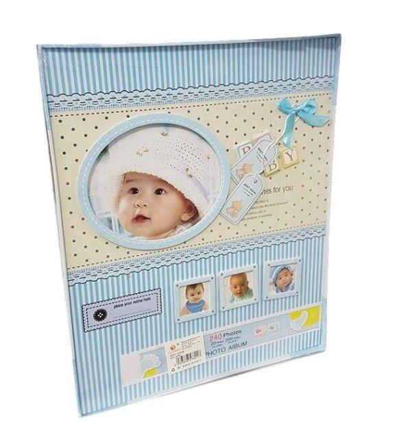 Album Foto Baby Neonato Regalo Bambino Maschietto Azzurro 240 Fotografie dfh