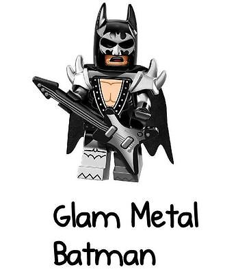 LEGO Batman Movie Minifigure Series 71017 #2 Glam Metal Batman SEALED NEW