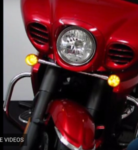 Big Bike Parts- AMBER 1156 LED BULB Motorcycle Bright Light Beam