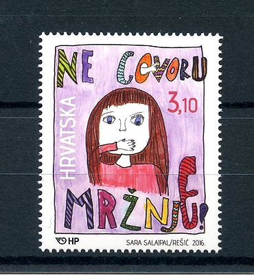 Croatia 2016 MNH Say No To Hate Speech 1v Set Stamps