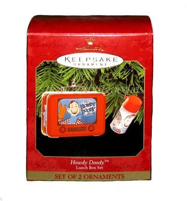 NIB Christmas Hallmark Keepsake Ornament HOWDY DOODY Lunch Box Set w/ Thermos