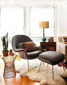 Clearance SALE - Eero Saarinen Style Womb Chair (with Ottoman)