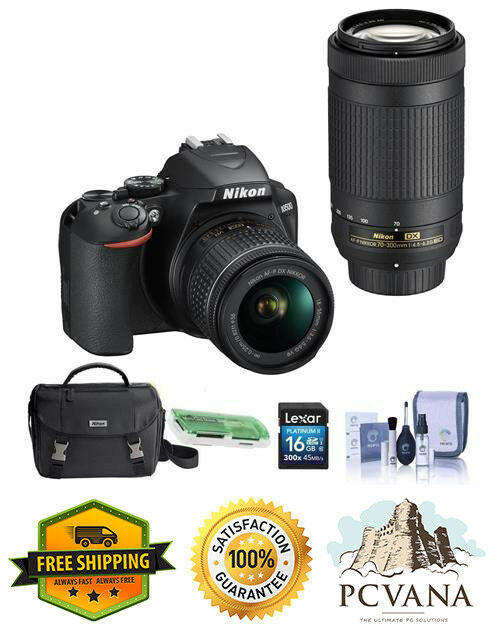 как выглядит Nikon D3500 24MP DSLR Camera AF-P DX NIKKOR 18-55mm f/3.5-5.6G VR Lens AF-P DX N фото