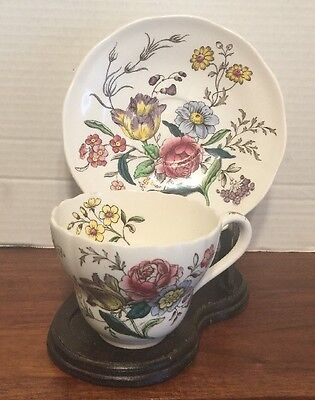 2 Copeland Spode Cups  And Saucers Gainsborough Pattern Excellent