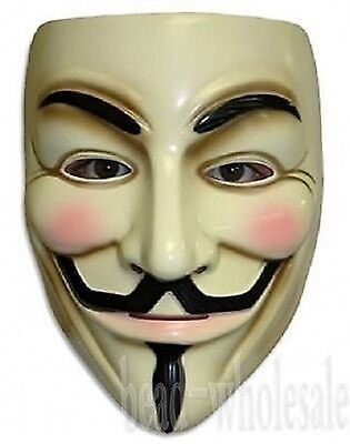 Halloween Masks V for Vendetta Mask Guy Fawkes Anonymous fancy dress costume New