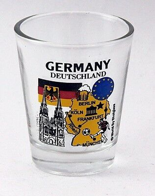 GERMANY EU SERIES LANDMARKS AND ICONS COLLAGE SHOT GLASS SHOTGLASS