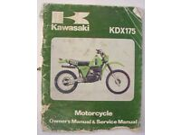 GENUINE KAWASAKI 1984 KXT250 SERVICE MANUAL KXT250-A1