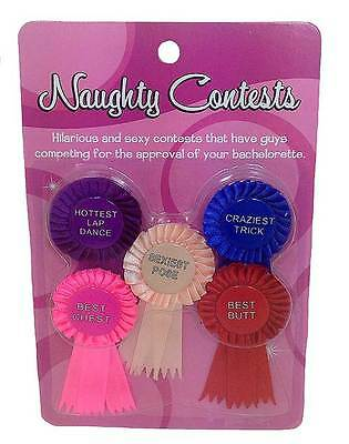 Bachelorette Party Award Ribbons Girls Night Out Naughty Contest - Bachelorette Favors