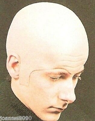 Deluxe Extra Thick Bald Head Skull Wig Cap Uncle Fester Fancy Dress Costume - Bald Skull Cap Costume