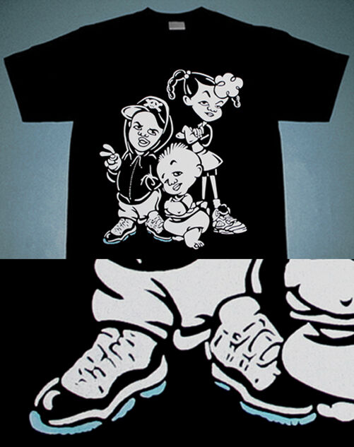 New 11 Bebe Kids concord air  shirt xi legend blue jordan match Caj mear tee L