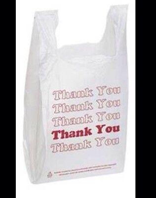 Lot 1000 Thank You Plastic Medium Size Shopping Merchandise Bags 11.5x 6 X 21
