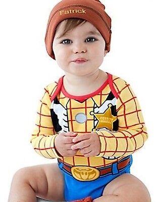 WooDy~BodySuit + Cap~CoTTon~Baby~Infant 6-24M~Disney Store~T