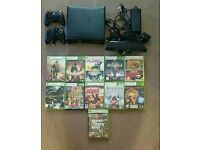 Xbox 360 Slim 250gb+Kinect sensor +13 games