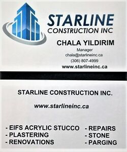 Starline Construction Inc. EIFS Acrylic Stucco Stone and Parging