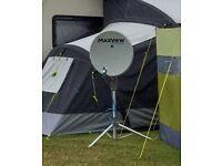 Maxview Precision Twin LNB Portable Satellite Kit