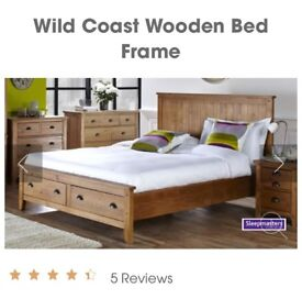 Like new wooden bed