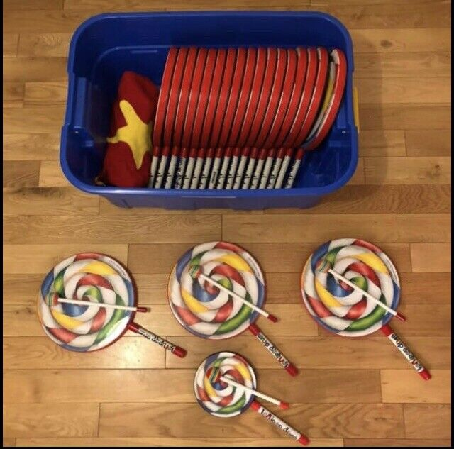 20 X Remo Lollipop Drums & Beaters