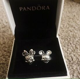 Pandora Disney Minnie and Mickey charms. S925 Ale stamped.