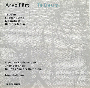 Arvo Part-Te Deum cd-Estonian Philharmonic-ECM 1993 +