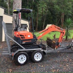 Mini Excavator Hire from $175 p/d ph:******2175