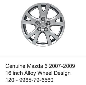 """Mazda 16"""" alloy wheel and tyre for (2008-2012)"""