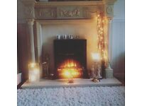 Fire surround, electric fire, and marble hearth