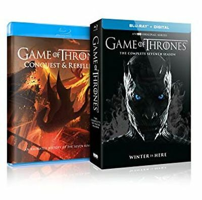 GAME OF THRONES SEASON 7 BLU RAY + DIGITAL + 45 MINUTE CONQUEST & REBELLION