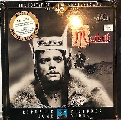 Macbeth (Laserdisc, 45th Anniversary Edition) *Brand New* * Free Shipping*