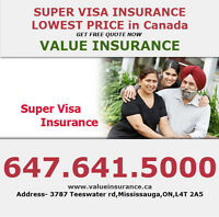 Super Visa/Travel insurance at monthly fees    (416)-992-1274