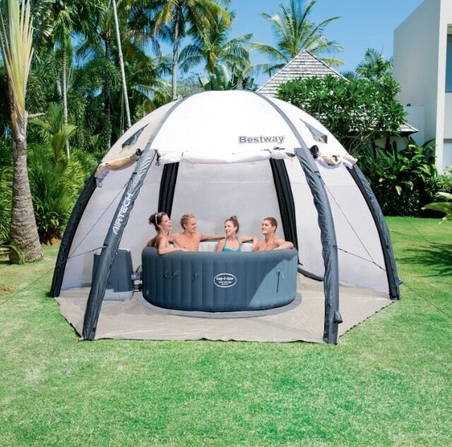 lay z spa hot tub with pump cover and tent in. Black Bedroom Furniture Sets. Home Design Ideas