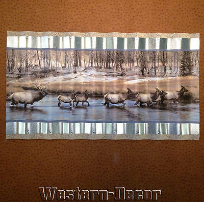 Wiggle Art Metal Western Elk Wallpaper Border Picture