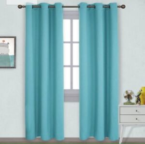 Blue Blackout Thermal Curtains