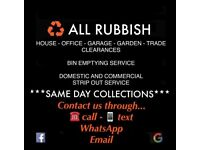 SAME DAY✅ ALL RUBBISH Removals-house-office-junk-bin-waste collection-skip alternative