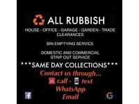 ALL RUBBISH REMOVAL GARDEN GARAGE SHED YARD BIN CLEARANCE cheaper then skip