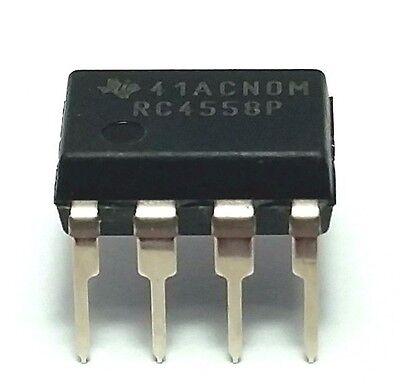 1pcs Texas Instruments Rc4558p Rc4558 Dual Operational Amplifier Dip-8 - New Ic