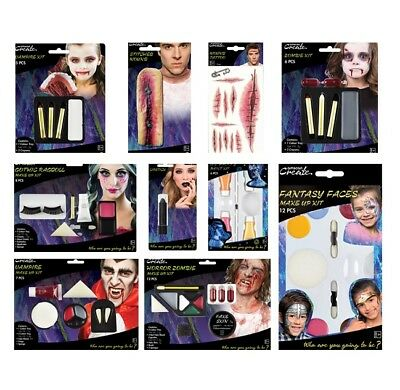 Kit de Maquillage pour le Visage (Halloween/ Blessure/ Cicatrice/ UV /](Maquillages Pour Halloween)