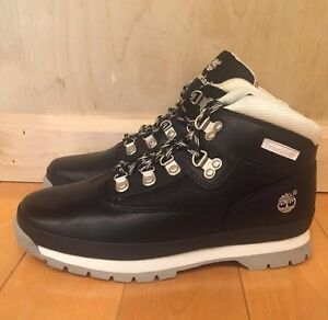 TIMBERLAND-EURO-HIKER-BOOTS-BLACK-WHITE-VINTAGE-GS-KIDS-YOUTH-SZ-4-7-Y-96902