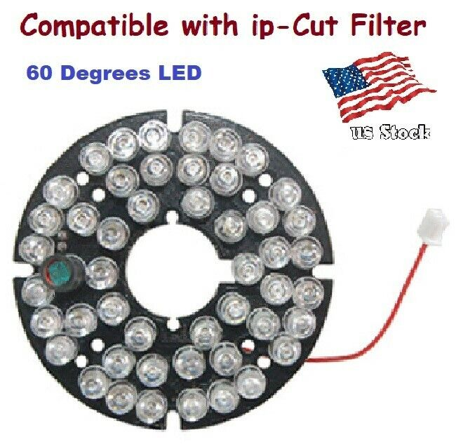 48 IR 0.5mm 60 Degrees LED Board for Dome Camera Compatible with IR-Cut Filter