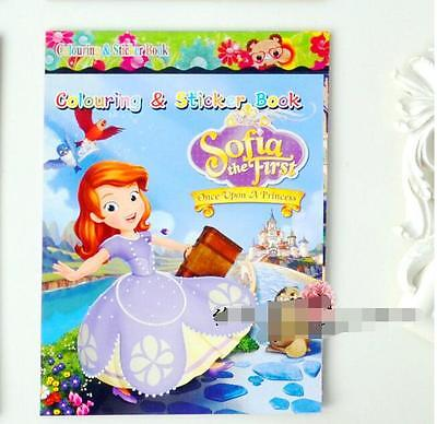 2018 Cute Cartoon Sofia Coloring Book Fun For Kids Sticker(No Coloring Pen) B141