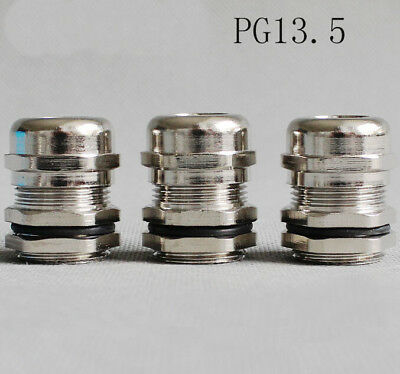1pcs Pg13.5 Nickel Brass Waterproof Cable Glands Connectors Full-coupling