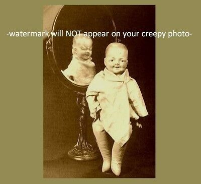 Vintage Creepy Skeleton Evil Grin PHOTO Freak Scary Weird Skull Smile Halloween (Creepy Smile Halloween)
